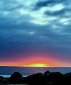 sunset Carp beach